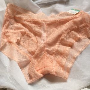 Other - 4for$25 Sexy Peach Lace Hipster Undies